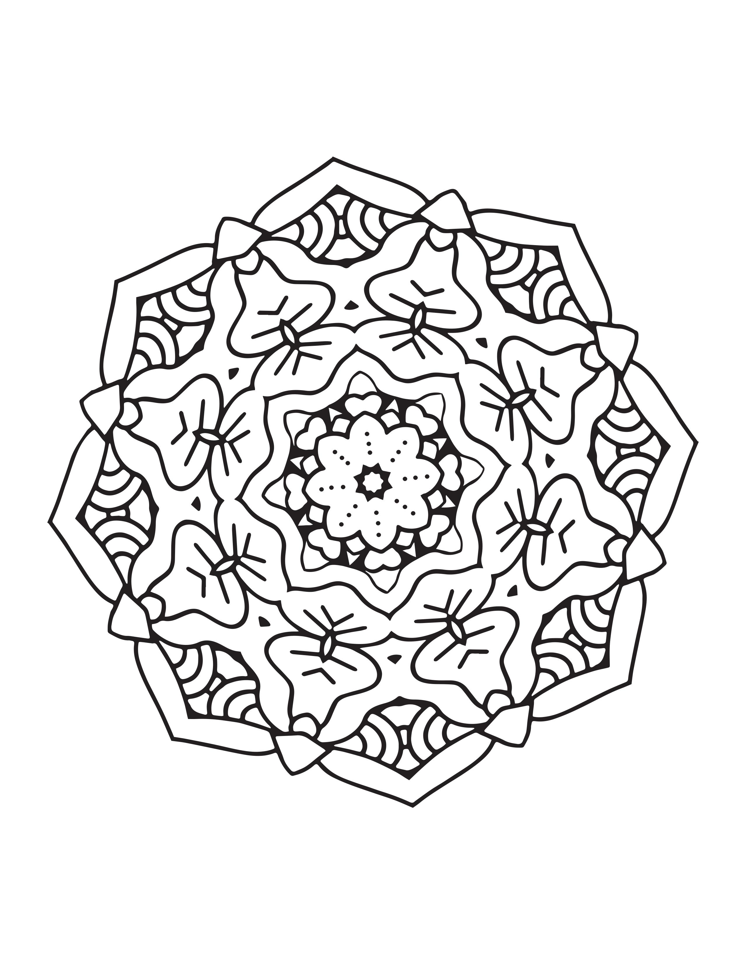 mandala zum ausmalen schwierig  malvorlagen
