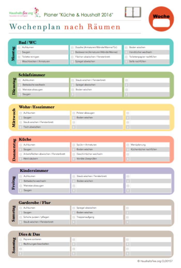 Haushaltsfee Putzplan Vorlage downloaden, ausdrucken & los. | elopage