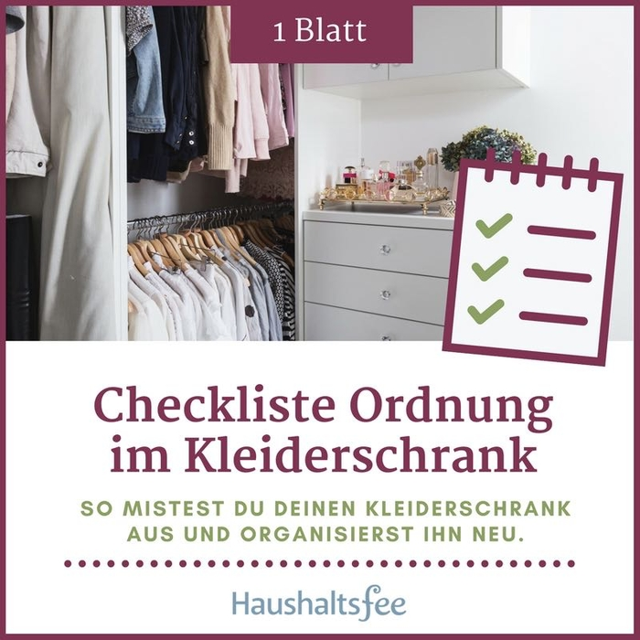 kleiderschrank organisieren checkliste ordnung halten. Black Bedroom Furniture Sets. Home Design Ideas