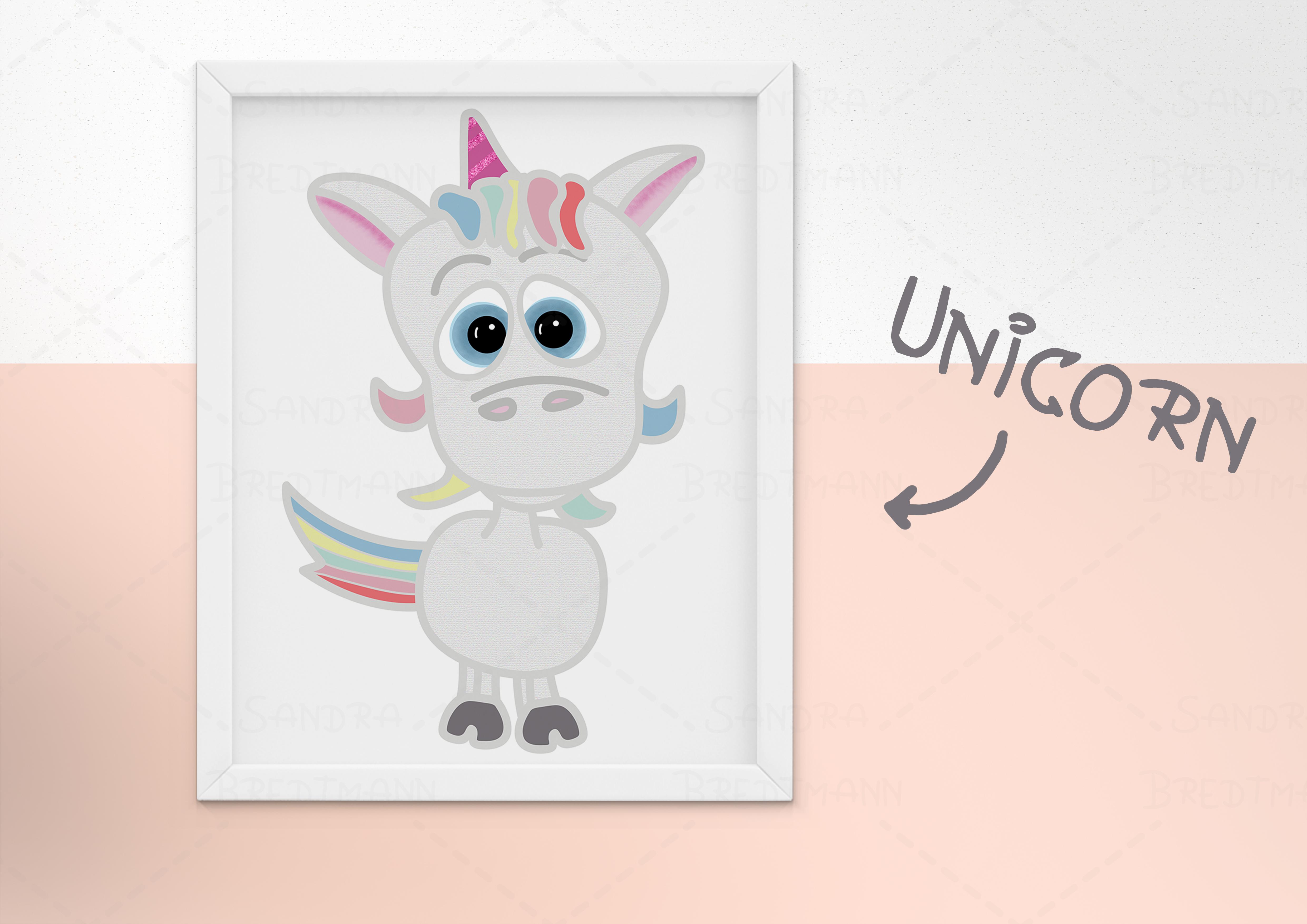 süßes Einhorn Baby zum ausdrucken für dein Kinderzimmer oder ...