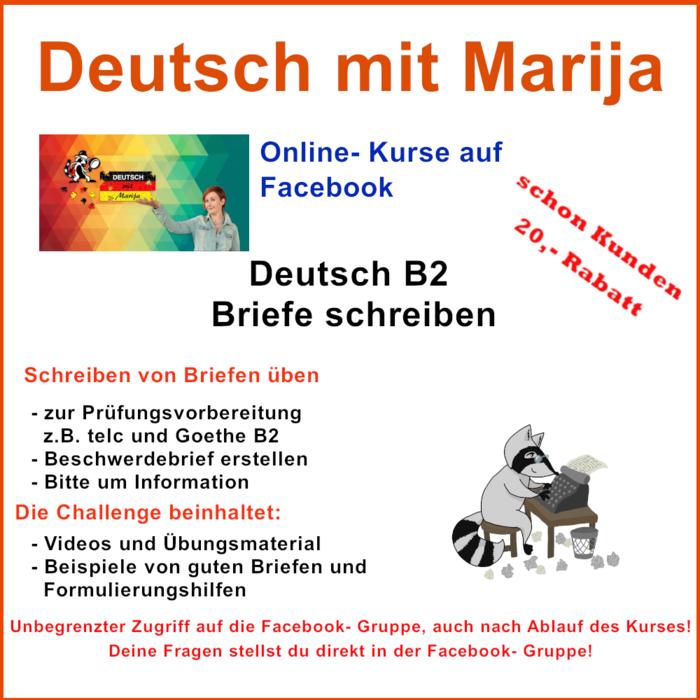 Deutsch B2 Briefe Schreiben Deutsch Mit Marija Elopage
