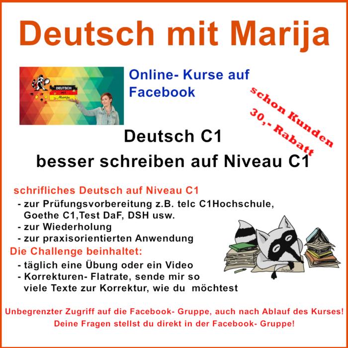 Besser Schreiben Auf Niveau C1 Deutsch Deutsch Mit Marija Elopage