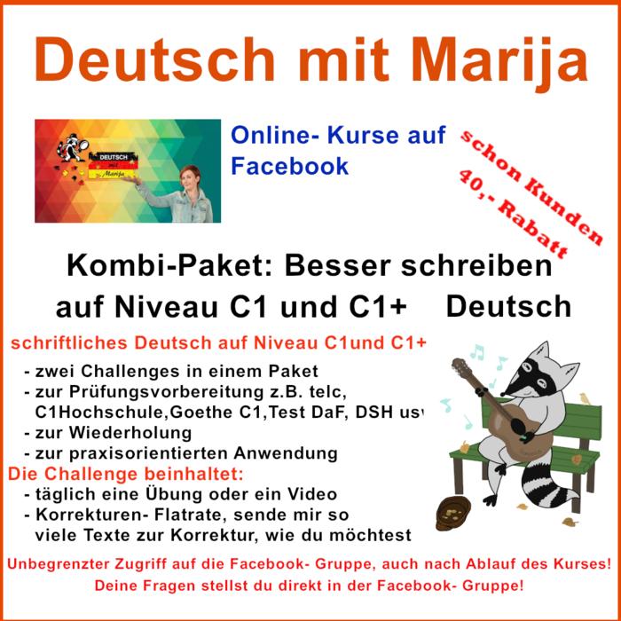 Kombi Paket Besser Schreiben C1 Und C1 Deutsch Deutsch Mit