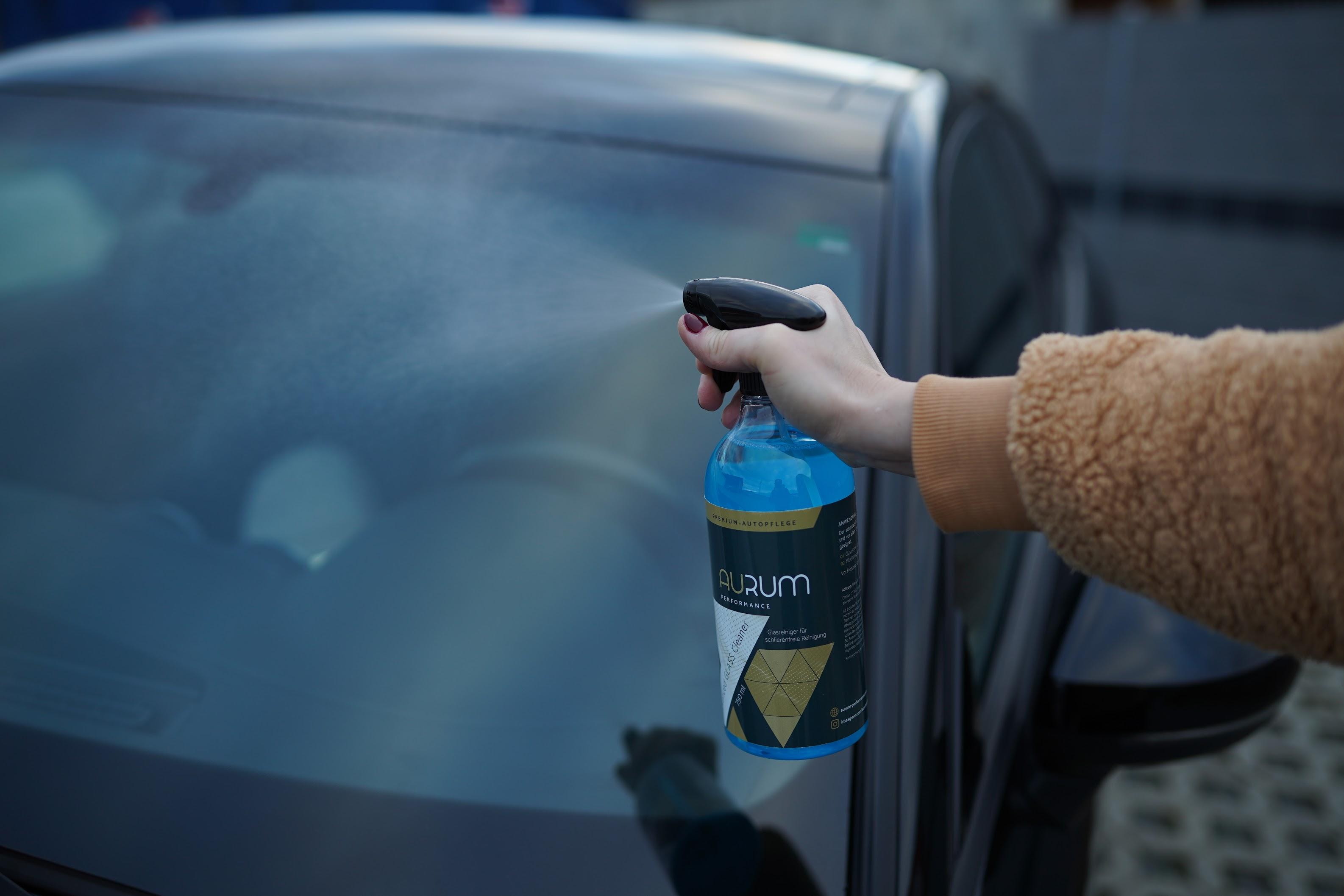 Fahrzeugpflege im Winter Glasreiniger Autoscheibe