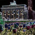 Brandenburgertor als neonbild