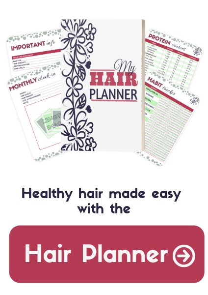 Healthy hair made easy with the hair planner printable