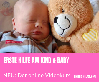 Erste hilfe am kind und baby