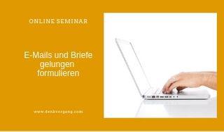 E mails briefe gelungen formulieren online seminar